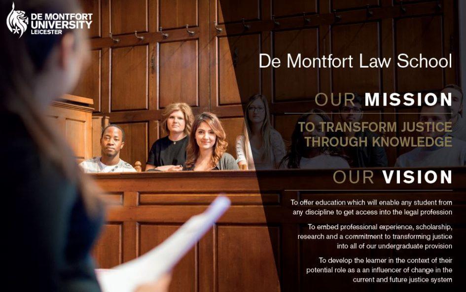 De Montfort Law School's Mission and Vision