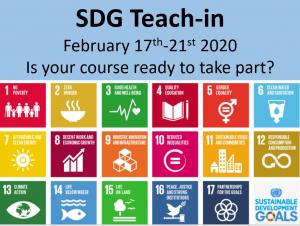 promotion for SDG teach-in 2020