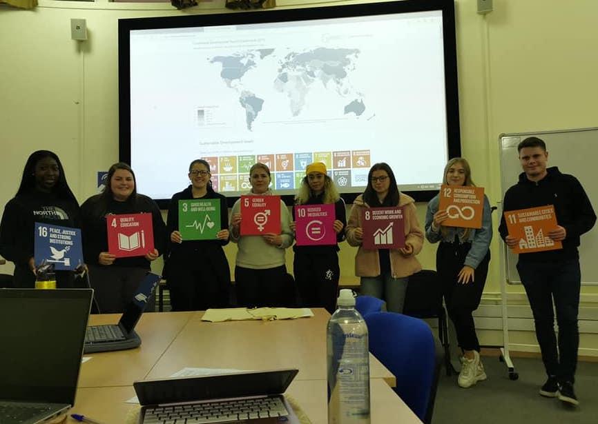 SDG Teachin domestic abuse group photo